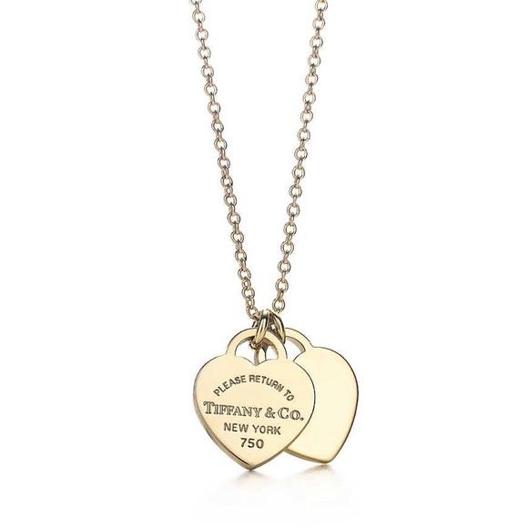 0cb202652 Tiffany & Co. Jewelry | Tiffany Mini Double Heart Tag Necklace ...